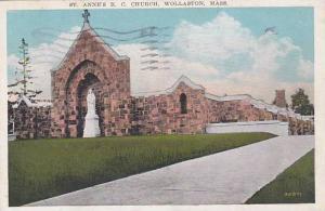 Massachusetts Wollaston Saint Annes R C Church 1933