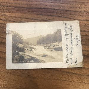 C.1906 VALLEY FALLS WV - REAL PHOTO POSTCARD RPPC Rare POSTED