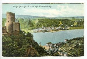 Burg Katz Mit St. Goar Und St. Goarshausen, Rhineland-Palatinate, Germany, 19...