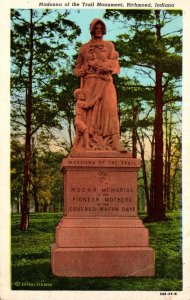 Indiana Richmond Madonna Of The Trail Monument 1949
