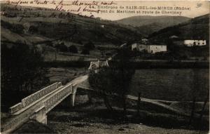 CPA Environs de Sain Bel les Mines Pont du Martinet et route de Chevi (572766)