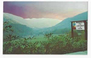 NC Maggie Valley Great Smoky Mountains Rt 19 Sunrise Vintage Postcard