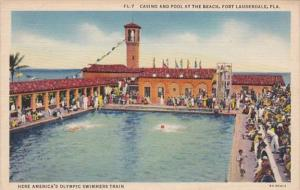 Florida Fort Lauderdale Casino and Pool At The Beach 1939 Curteich