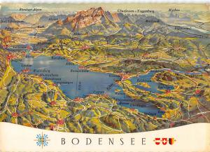 GG14044 Reliefkarte des Bodensee Romanshorn Arbon, Gallen Appenzell Panorama Lac