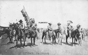 NEBRASKA OMAHA INDIANS-1911 RPPC REAL PHOTO POSTCARD