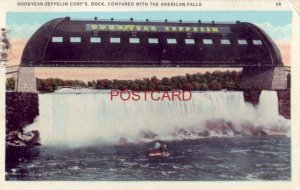1931 GOODYEAR - ZEPPELIN CORP'S DOCK photographic comparison with AMERICAN FALLS