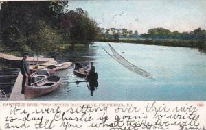 Rhode Island Providence Pawtuxet River From Rhodes Boat House 1906