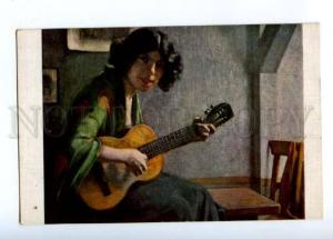 176587 BELLE Musician GUITAR by ENGEL Vintage SALON LAPINA PC
