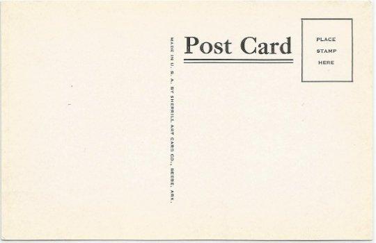 Arkansas's Leading Industries Logging, Farming, Vintage Postcard Black and White