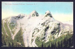 The Lions Mountains Vancouver BC Canada unused c1920's