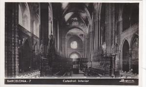Spain Barcelona Catedral Interior Real Photo