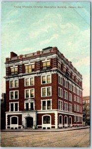 Detroit, Michigan Postcard YWCA Building Boarding House Street View 1910s Unused