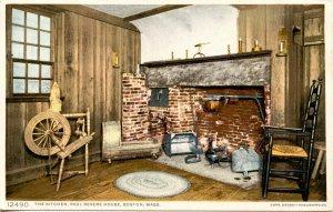 MA - Boston. Paul Revere House, Kitchen