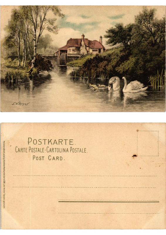 CPA Am Weiher Meissner & Buch Litho Serie 1189 (730492)