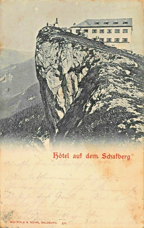 SCHAFBERG AUSTRIA~HOTEL auf dem~1897 PHOTO POSTCARD