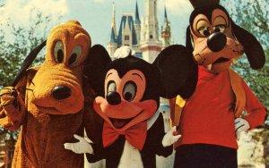 FL - Orlando. Walt Disney World. Mickey Mouse, Pluto and Goofy