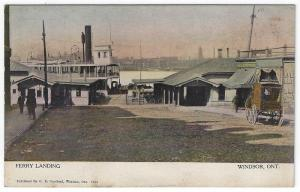 Windsor, Ontario, Canada, Early View of The Ferry Landing