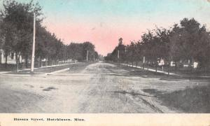 Hutchinson MN Wide, Dirt, Tree-Lined Hassan Street @ Sundown 1914 To Mary Wondra
