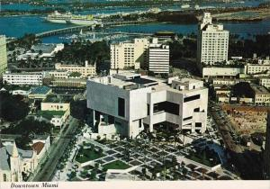Florida Miami Downtown Showing Dade Community College & Bayfront Park 1979
