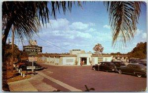 Orlando, Florida Postcard WHITE TURKEY DRIVE IN Restaurant Roadside 1953 Cancel