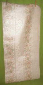 Vintage By the Yard Shand Kydd Wall Paper Covering Sample Pink Roses Floral