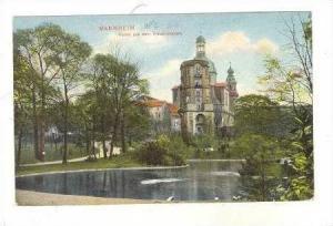 Manheim, Germany, PU 1908 Partie aus dem Friedrichspark