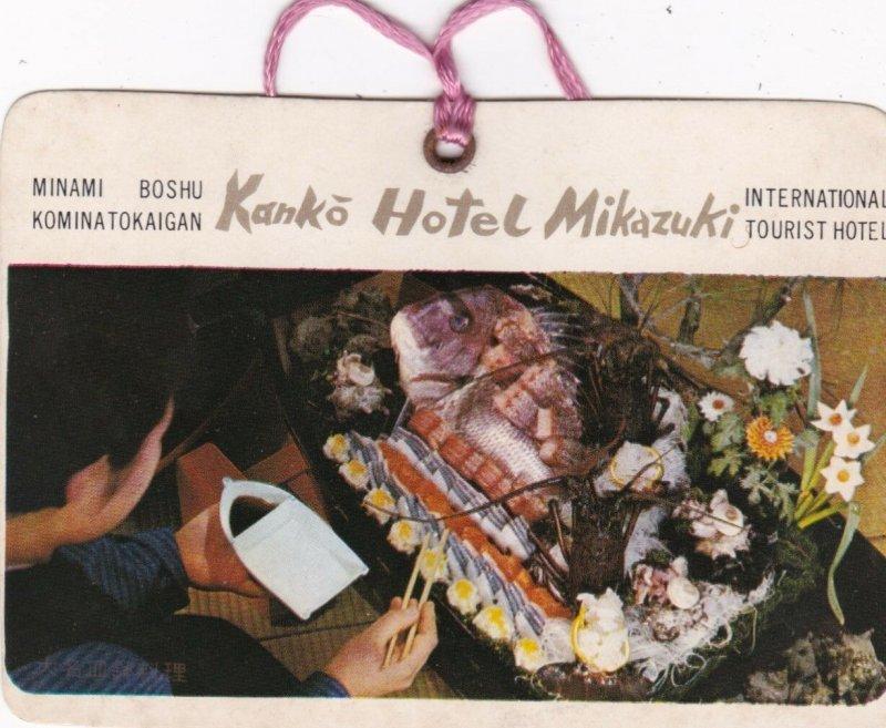 Japan Kanko Hotel Mikazuki Vintage Luggage Tag sk1690