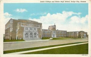Dodge City KS Art Deco Junior College, Senior High School~Nice Brickwork~1929