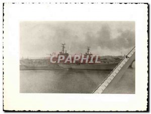 Old Postcard PHOTO CARD boat Gate war planes Helicopters