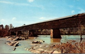 Alabama Alexander City Covered Bridge At Horseshoe Bend
