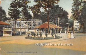 Binghamton, New York, NY, USA Postcard Coaster at White City 1908