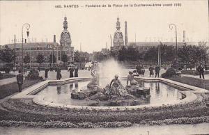France Nantes Fontaine de la Palce de la Duchesse Anne 1933