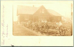 Vintage 1914 RPPC Real Photo Postcard House View w/ HOQUIAM Washington Cancel