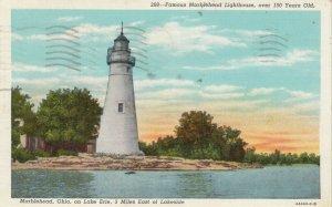MARBLEHEAD , Ohio , 1941 ; Marblehead Lighthouse on Lake Erie