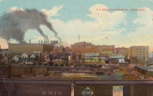 AKRON , Ohio , 1912 ; B.F. GOODRICH Rubber Comapny, Cargo railroad cars