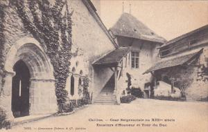CHILLON, Switzerland, 1900-910's; Cour Seigneuriale Au XIII Siecle Escaliers ...