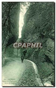 Old Postcard Dauphine Route Grande Chartreuse out of the desert