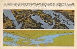 Maps Thousand Islands International Bridge Ontario, Canada Unused