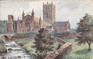 Raphael Tuck & Sons´, #6499; ENGLAND, PU-1905; St. David's Cathedral