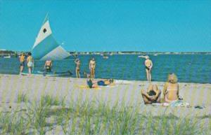 Massachusetts Cape Cod Hyannis Beach Scene