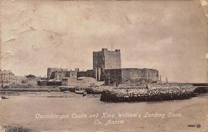 N. Ireland Antrim Carrickfergus Castle and King William's Landing Stone 1916