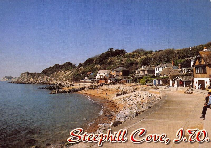 Isle of Wight Postcard Steephill Cove, Near Ventnor by W.J Nigh & Sons Ltd Q25