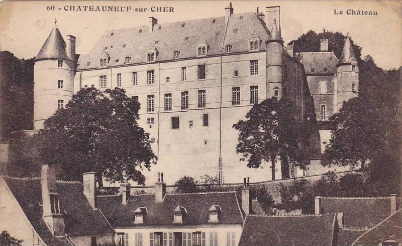 Le Chateau, Chateauneuf Sur Cher (Cher), France, 1900-1910s