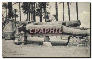 Postcard Ancient Egypt Egypt Memphis. Statue of Ramses II