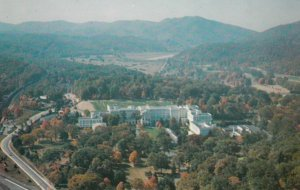 WHITE SULPHUR SPRINGS, West Virginia, 1950-60s; Aerial View of the Greenbriar