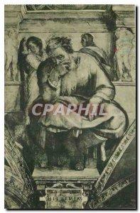 Old Postcard Citta del Vaticano Cappelle Sistina Michelangelo The Prophet Jer...