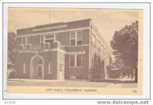 City Hall, Columbus, Kansas, 20-30s