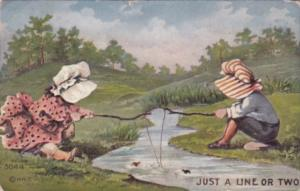 Sunbonnet Girls Fishing 1911