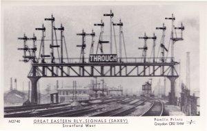 Greenwich Train Railway Station Victorian History RPC Postcard