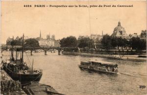CPA Paris 6e Paris Perspective sur la Seine prise du Pont du Carrousel (312276)